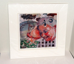 "German Artist  Melissa Steckbauer Print, ""Bad Girls"" Matted, New  - $29.99"