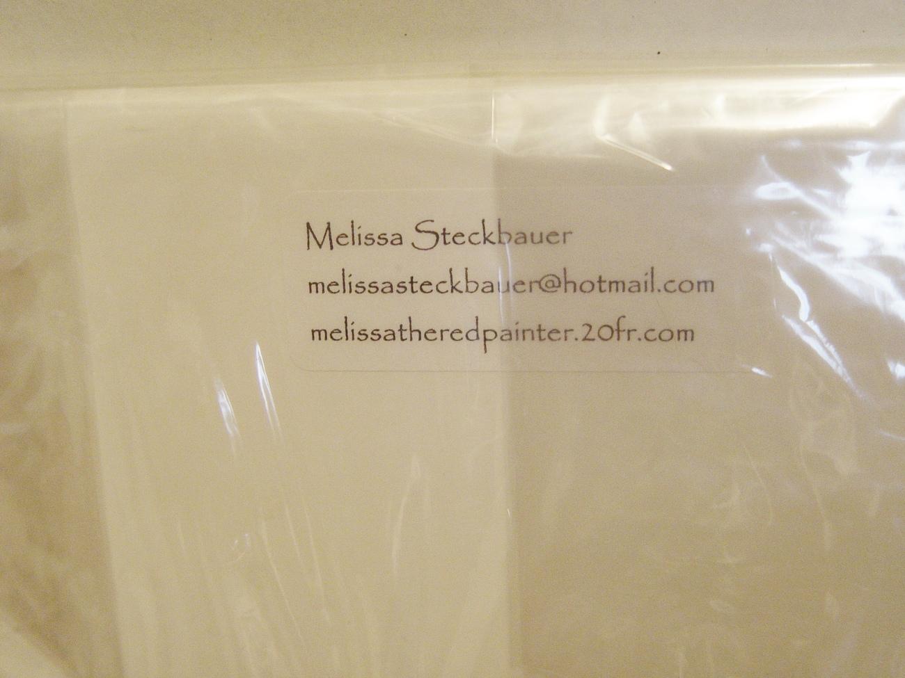 """German Artist  Melissa Steckbauer Print, """"Bad Girls"""" Matted, New"""