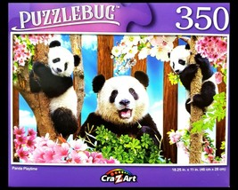 350 Piece Jigsaw Puzzle, Puzzlebug 18 in. x 11 in., Cute Panda Playtime NEW - $4.99
