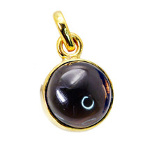 grand Smoky Quartz Gold Plated Brown Pendant Fashion jewellery US - $5.93