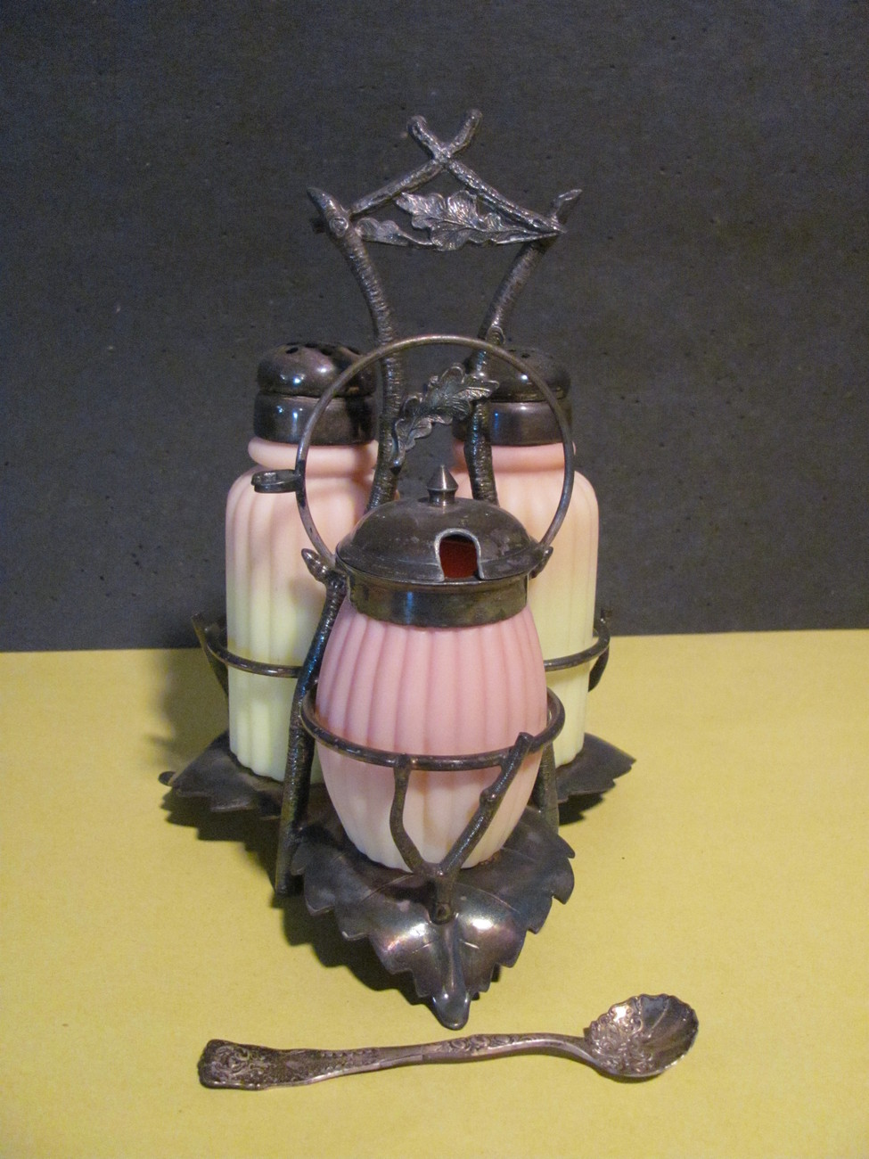 Burmese Condiment Set Antique