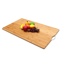 Extra LARGE Carbonised Kitchen Bamboo Cutting Chopping Board With Hook Kitchen C image 3