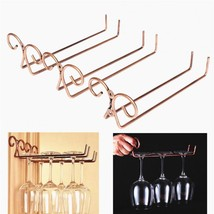 Wine Glass Holder Stemware Rack Double Row Household Kitchen Decor Stora... - $9.64