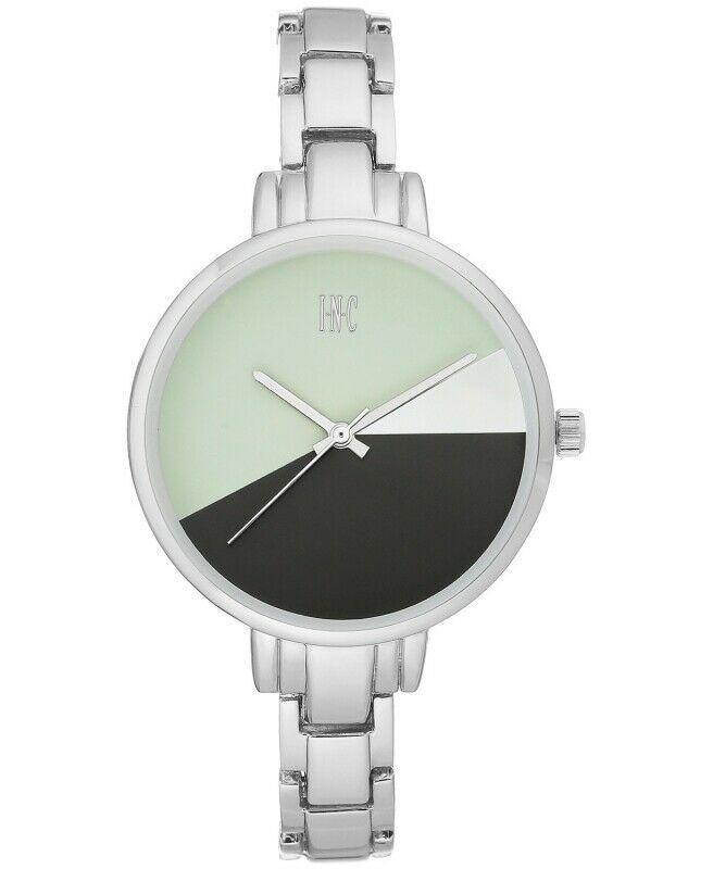 I. N.c. Damen Silberfarben 36mm Armband Art Geometrische Uhr Neu
