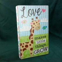 Ganz Jamie the Giraffe Love Makes Little Things Grow Baby Toddler Box Sign  New - $13.24