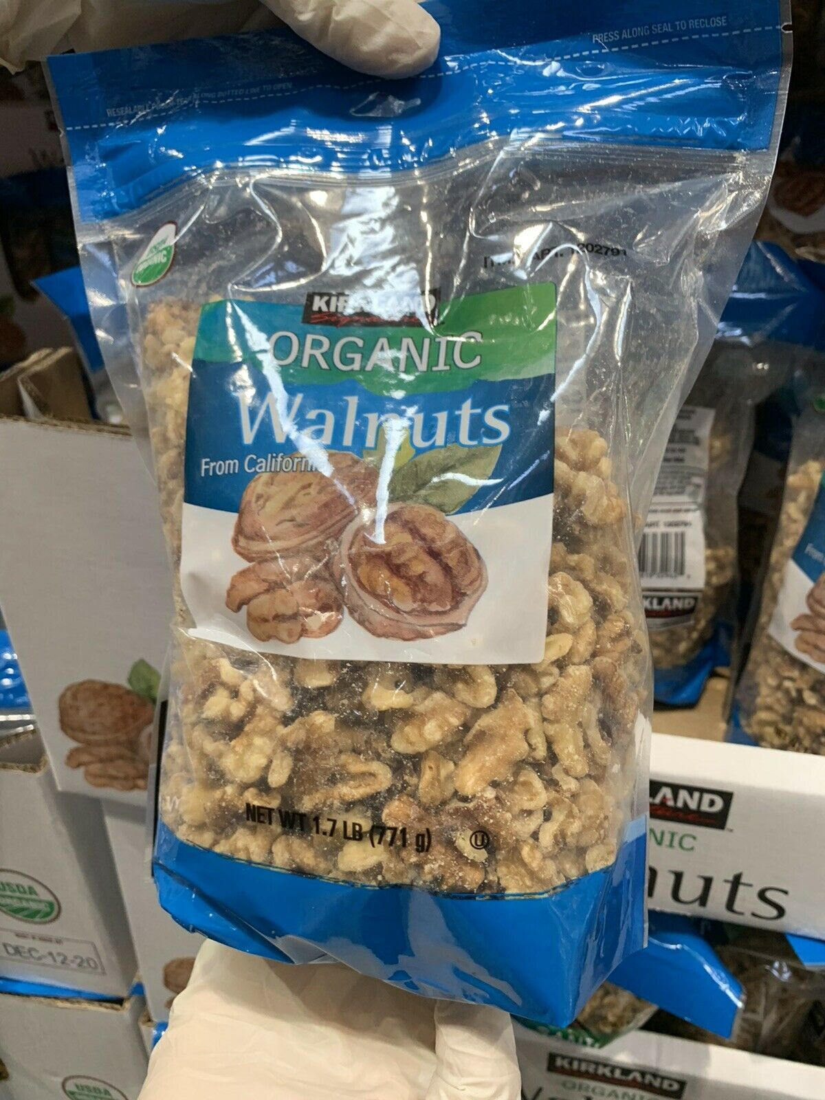 Primary image for 1 Packs Kirkland Signature Organic Walnuts 1.7 LB Each Pack