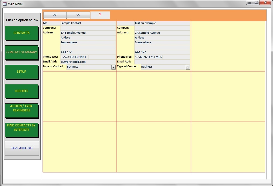 Contact Manager Database Software CRM. Track your Contacts & Log Sales, Tasks...