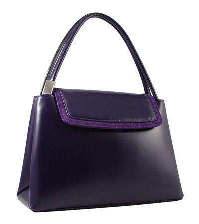 Carbotti Purple Italian Designer Leather Handbag