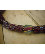 Necklace: Purple Beaded Beads, Furnace Glass & ... - $89.00