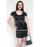 100% Silk Black Cocktail Mini Dress sz 4 - $139.00