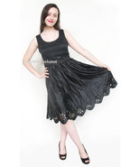 100% Silk Eylet Black Dress 6 US 10 UK 36 EU - $139.00