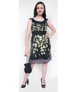 Silk Embroidered Cocktail Dress sz 4 US 8 UK 34 EU - $139.00