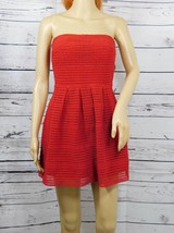Forever 21 Red Strapless Silhouette Formal Mini Prom Dress Size: S - NWT