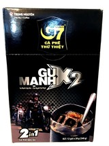Trung Nguyen G7 Instant 2-In-1 Strong x 2 Coffee Mix 12 Sticks x 20g ( Pack of 3 - $37.39