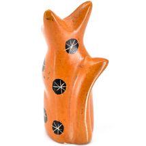 SMOLArt Hand Carved Soapstone Orange Sitting Kitten Cat Figurine Made Kenya image 3