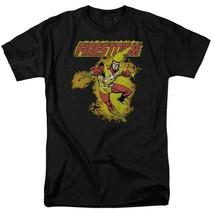 Firestorm T-shirt retro 80s DC comic book cartoon superhero black tee DCO172 image 2