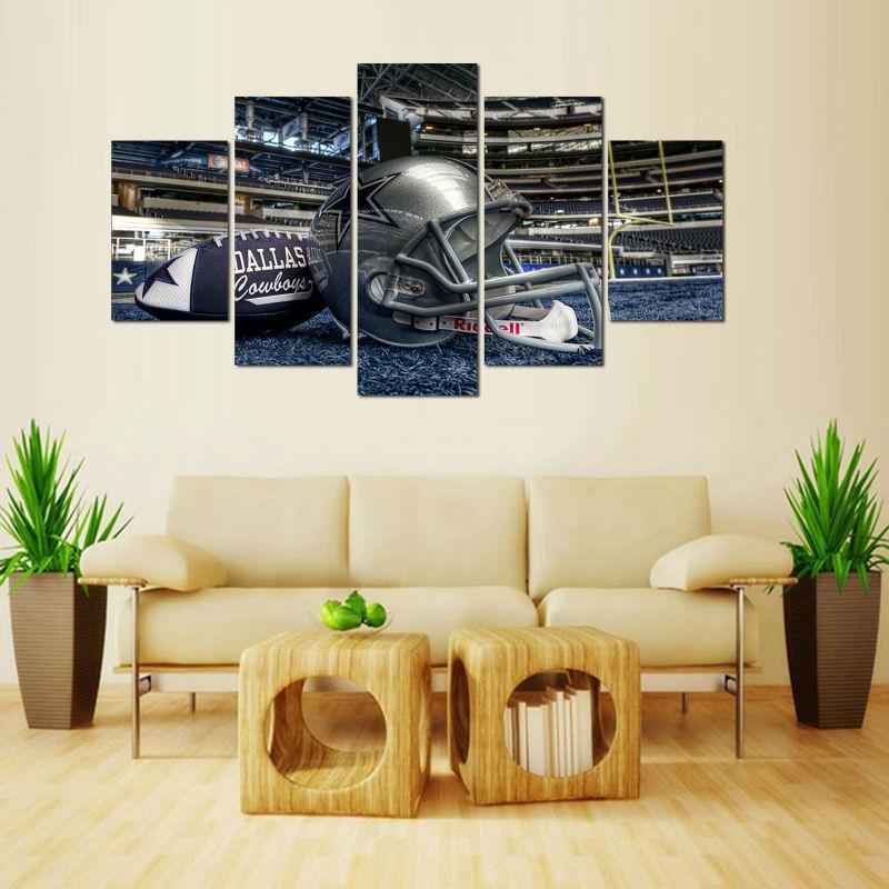 DALLAS COWBOYS 5 PCS Painting Canvas Wall Art NFL Sport