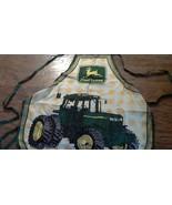 New John Deere bib print tractor apron size one fit - $6.00