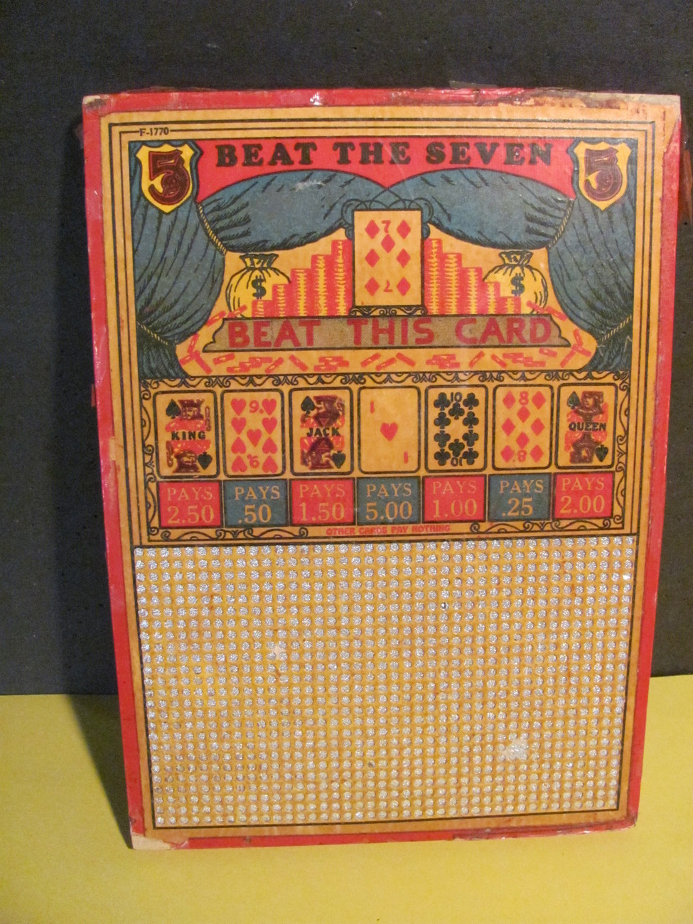 Punchboard-Two Items--Antique