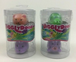 JigglyDoos Turtle Cat Kitten Bunny Lot of 2 Packs 4 Total Series 1 Jakks... - $15.79