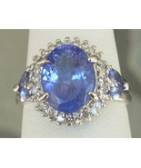 4.07CTW Violet Blue Tanzanite & VS-SI Diamonds 14K G - $999.00
