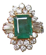 3.93 CTW Emerald & Diamonds 14K Gold - $4,900.00