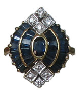 Beautiful Estate 18K Gold Sapphire Ring - $2,000.00