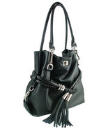 Carbotti Black Italian Designer Calf Leather Handbag - $529.00
