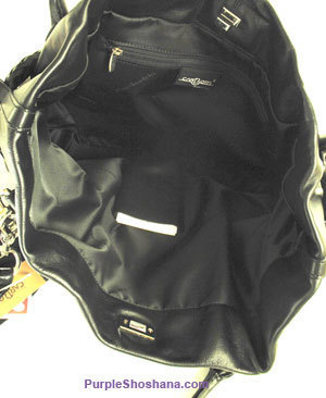 Carbotti Black Italian Designer Calf Leather Handbag