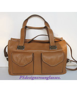 Dario Romani Italian Designer Tan Camel Leather Handbag - $349.00
