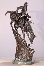 American Handmade 100% Bronze Sculpture Statue Mountain Man By Frederic Remingto - $318.01