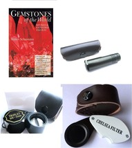 Dichroscope, Chelsea Filter, Gem Loupe, Gemstones of the world Book, Too... - $61.96