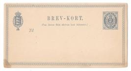 Denmark Numeral Postal Stationery Card 2sk Brev Kort Unused ca 1870s - $4.99