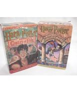 Harry Potter Cassette Tapes Lot Audiobooks Goblet of Fire & The Sorcerer... - $14.84
