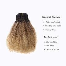 Caliee Afro Kinky Curly Clip in Hair Extension Human Hair Double Weft Unprocesse image 2