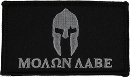 MOLON LABE HELMET BLACK 2 X 3  EMBROIDERED PATCH WITH HOOK LOOP - $15.33