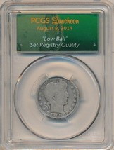 1900 BARBER SILVER QUARTER-SCARCE PCGS HOLDER AUGUST 2014 LUNCHEON-SHIPS... - $199.95