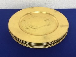 "Set Of 7 Elegant 13"" Gold Charger Plates (1G) - $34.99"