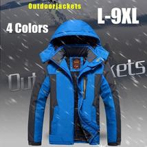 Men's Winter Jackets With Hooded Thickening Outdoor Jacket Plus Size