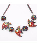 colorful fish necklace  face new 2014 lovely cutependant fashion girls acrylics  - $13.24