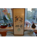Ref 001 Vintage Signed Chinese Watercolour Bird In Flora  - $47.20