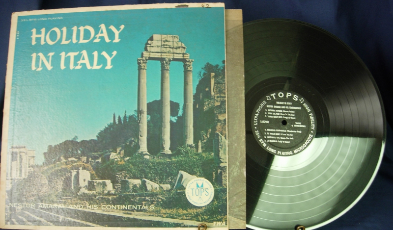 Nestor Amaral & His Continentals - Holiday in Italy -LP - TOPs Music L1529