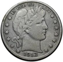 1913 Silver Barber Half Dollar Coin Lot A 360