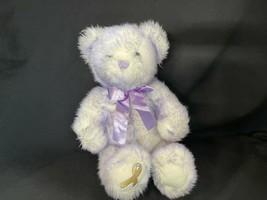 Build A Bear Purple Nikkis Cancer Awareness 2003 Plush Bear Purple Ribbon  - $31.34