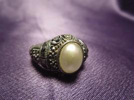Sterling Silver 925 Marcasite Judith Jack Ring Size 9 Designer Signed - $49.50