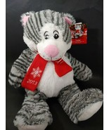2013 Pet Smart Lucky Cat striped gray white Squeaker Plush Luv a Pet dog... - $14.84