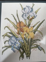 "Golden Bee Iris Cross Stitch Kit Frame 8""x10"" New Sealed 60391 - $14.52"