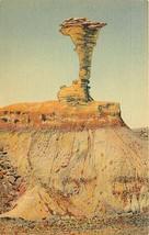 Linen Postcard AZ M201 Petrified Forest Eagle Nest Rock Formation Curt T... - $7.00