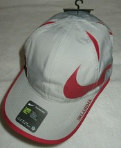 Nike Featherlight Aerobill Oklahoma Sooners Big Swoosh Mens Hat Grey Red... - $18.76