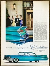 1959 Cadillac Fleetwood Sedan DeVille PRINT AD Black Tie Couples Ritz Carlton - $11.89